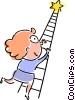 Vector Clipart illustration  of a Climbing Ladders