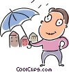 Vector Clip Art picture  of a Rain