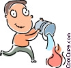 Putting Out Fires Vector Clipart illustration