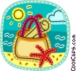 Vector Clipart image  of a Beach Scenes