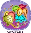 Vector Clipart picture  of a Mardi Gras