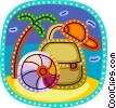 Schoolbags and Knapsacks Vector Clip Art picture