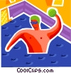 Vector Clipart graphic  of a Water Polo