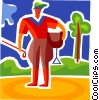 Vector Clipart graphic  of a Horse Riders
