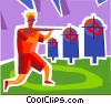 Vector Clip Art graphic  of a Biathlon