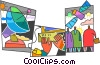 Communication Concepts Vector Clip Art graphic