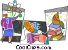 Scientists and Researchers Vector Clipart picture