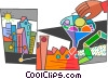 Factories and Refineries Vector Clipart picture