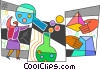Vector Clipart picture  of a Scientists and Researchers