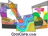 Vector Clip Art graphic  of a Rivers and Streams
