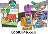 Vector Clipart graphic  of a DNA