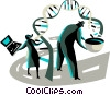 Scientist and researchers Vector Clip Art picture