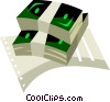 Vector Clip Art image  of a bundles of money