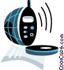 Vector Clipart image  of a Cellular Wireless and Cordless