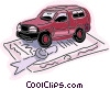 Vector Clip Art graphic  of a Car insurance concept