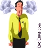 frustrated businessman Vector Clip Art graphic