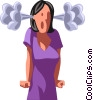 Vector Clip Art graphic  of a frustrated businesswoman