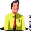 businessman in a hole Vector Clip Art image