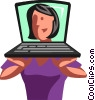 Vector Clipart graphic  of a Businesswomen
