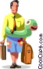 businessman going on vacation Vector Clip Art picture