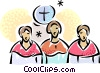 Vector Clipart graphic  of a Choir Singing