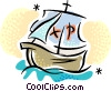 Vector Clipart graphic  of a Noah's Ark