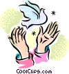 Dove of peace Vector Clip Art picture