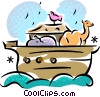 Noah's Ark Vector Clip Art graphic