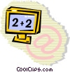 Vector Clip Art image  of a Computer screen