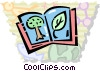 Books and Projects Vector Clip Art graphic