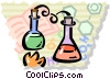 Vector Clip Art graphic  of a Beakers Flasks and Test Tubes