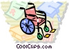 Wheelchairs Vector Clipart illustration