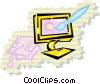 Vector Clip Art graphic  of a Monitors