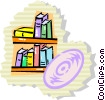 Vector Clip Art image  of a Bookshelves