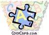 piece of a puzzle Vector Clip Art picture