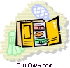 Vector Clip Art graphic  of a Lockers