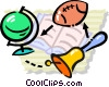 Vector Clip Art graphic  of a school activities