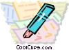Markers Vector Clip Art picture