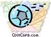 Vector Clipart illustration  of a Soccer Balls