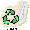Vector Clipart graphic  of a Recycling Symbols