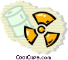 Radioactive Symbols Vector Clipart graphic