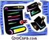 Diplomas and Caps Mortar Boards Vector Clipart picture