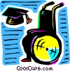 Vector Clipart graphic  of a Mortar Boards