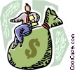 Vector Clip Art graphic  of a Financial Success