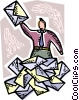 Vector Clipart image  of a Envelopes