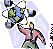 Vector Clip Art graphic  of a Global Networks