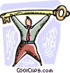 Vector Clipart picture  of an Accomplishment