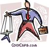 Vector Clip Art picture  of a Control and Manipulation