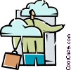 Vector Clip Art image  of a Clouds