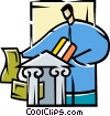 Vector Clipart graphic  of a banking concept